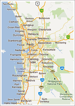 Map Of Perth Wa Perth Wa Map | Path Map